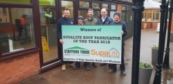 SupaLite crown Stafford UPVC Windows as Fabricator of the Year