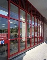 Aluminium entrance facades